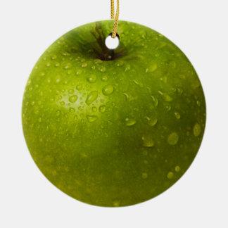 Ornamento De Cerâmica Maçã verde