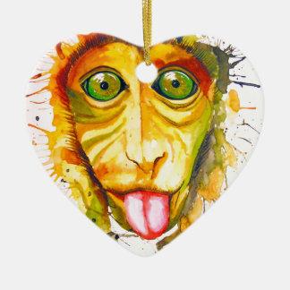 Ornamento De Cerâmica Macaco