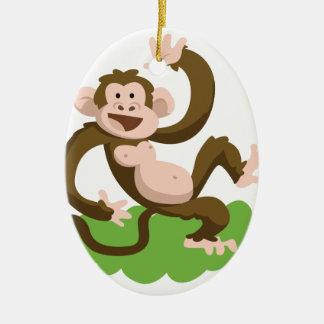Ornamento De Cerâmica macaco da dança