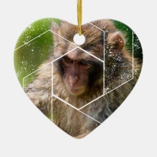 Ornamento De Cerâmica Macaco da neve