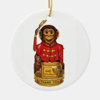 Ornamento De Cerâmica Macaco do circo