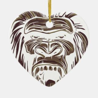 Ornamento De Cerâmica macaco feio do vintage