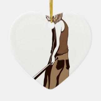 Ornamento De Cerâmica macaco humano com vara