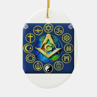 Ornamento De Cerâmica Maçonaria todas as religiões