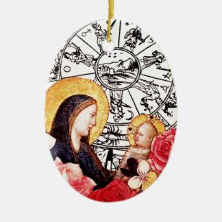 Ornamento De Cerâmica madonna e criança