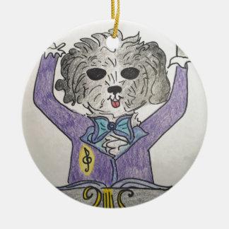 Ornamento De Cerâmica Maestros do filhote de cachorro