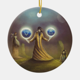 Ornamento De Cerâmica mágica da fantasia do feiticeiro