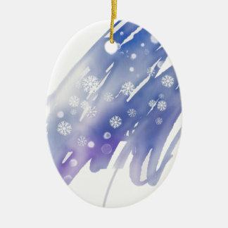 Ornamento De Cerâmica Mágica do inverno