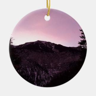Ornamento De Cerâmica Majestade das montanhas roxas