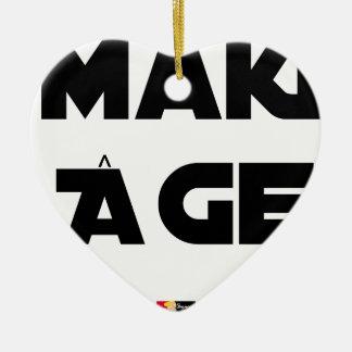 Ornamento De Cerâmica MAKI IDADE - Jogos de palavras - François Cidade