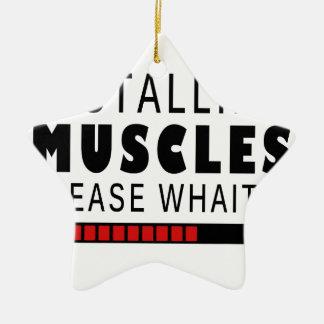 Ornamento De Cerâmica Malhação e músculos do Gym