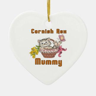 Ornamento De Cerâmica Mamã Cornish do gato de Rex