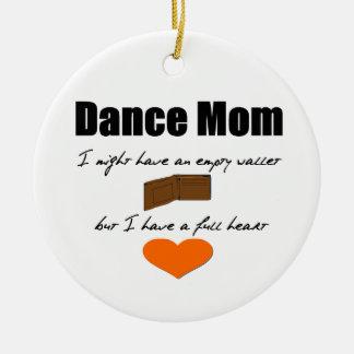 Ornamento De Cerâmica Mamã da dança - corações vazios, carteira completa