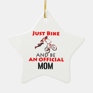 Ornamento De Cerâmica mamã da motocicleta
