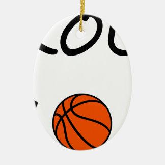 Ornamento De Cerâmica Mamã do basquetebol