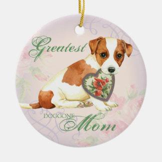 Ornamento De Cerâmica Mamã do coração de Russell Terrier