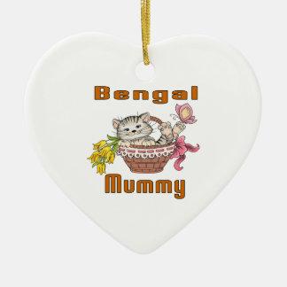 Ornamento De Cerâmica Mamã do gato de Bengal