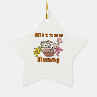 Ornamento De Cerâmica Mamã do gato do mitene