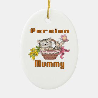 Ornamento De Cerâmica Mamã do gato persa