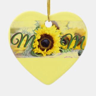 Ornamento De Cerâmica Mamã do girassol