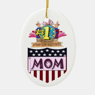 Ornamento De Cerâmica Mamã do número um