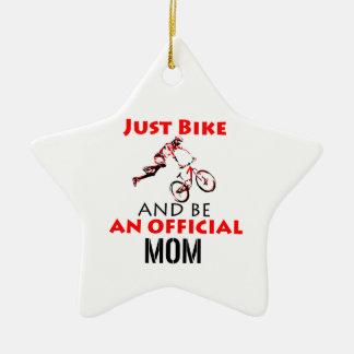 Ornamento De Cerâmica Mamã engraçada do ciclismo