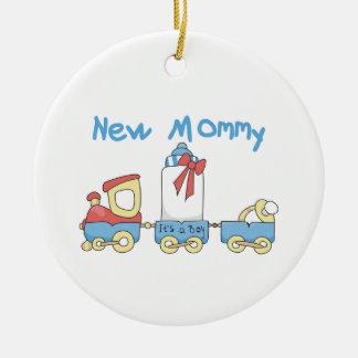 Ornamento De Cerâmica Mamães novas do trem é presentes de um menino