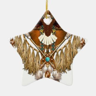 Ornamento De Cerâmica Mandala da águia americana - revisada
