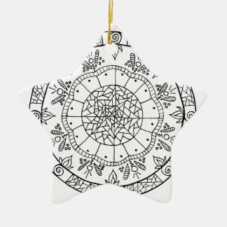 Ornamento De Cerâmica Mandala da flor