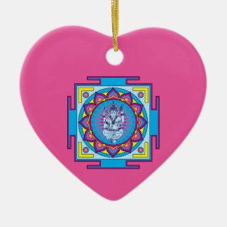 Ornamento De Cerâmica Mandala de Ganesha
