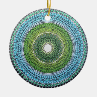 Ornamento De Cerâmica Mandala de Seaglass