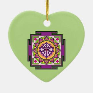 Ornamento De Cerâmica Mandala de Sri Yantra