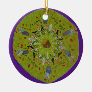 Ornamento De Cerâmica Mandala de Yaga do babá