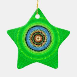 Ornamento De Cerâmica Mandala do caleidoscópio em Portugal: Teste padrão