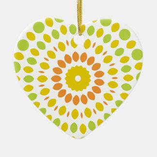 Ornamento De Cerâmica Mandala do citrino