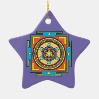 Ornamento De Cerâmica Mandala do cubo de Metatron