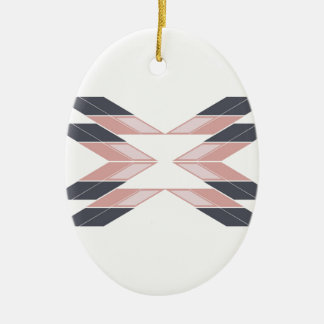 Ornamento De Cerâmica Mandala do design em Ethno branco