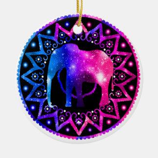 Ornamento De Cerâmica Mandala do elefante