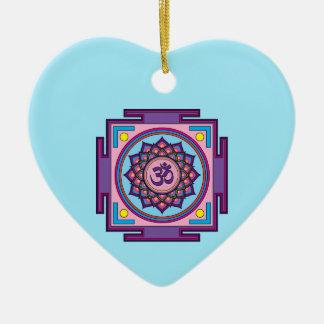 Ornamento De Cerâmica Mandala do OM Shanti OM