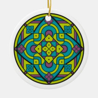 Ornamento De Cerâmica Mandala simples 1
