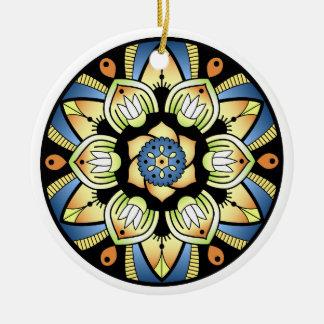 Ornamento De Cerâmica Mandala simples 3