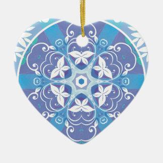 Ornamento De Cerâmica Mandalas do coração da liberdade 10 presentes