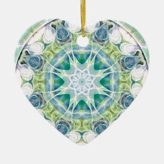 Ornamento De Cerâmica Mandalas do coração da liberdade 12 presentes