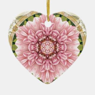 Ornamento De Cerâmica Mandalas do coração da liberdade 13 presentes