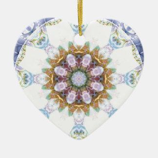 Ornamento De Cerâmica Mandalas do coração da liberdade 14 presentes