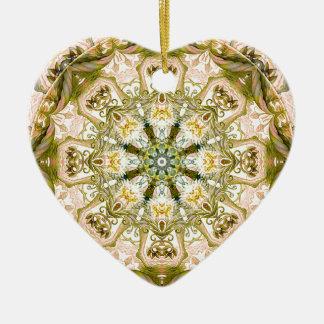 Ornamento De Cerâmica Mandalas do coração da liberdade 15 presentes