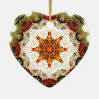 Ornamento De Cerâmica Mandalas do coração da liberdade 16 presentes