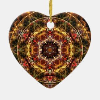 Ornamento De Cerâmica Mandalas do coração da liberdade 17 presentes
