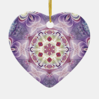Ornamento De Cerâmica Mandalas do coração da liberdade 18 presentes