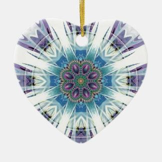 Ornamento De Cerâmica Mandalas do coração da liberdade 19 presentes